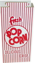 Dixie 47 Ounce Automatic Bottom Popcorn Box With Hook And Eye Reclose Top 500 Per Pack - 1 Per Case