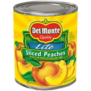 Del Monte In Extra Light Syrup Sliced Yellow Cling Peach 29 Ounce Can - 6 Per Case