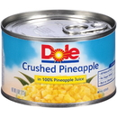 Dole Crushed Pineapple In Pineapple Juice 8 Ounces - 12 Per Case