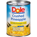 Dole In Juice Crushed Pineapple 20 Ounce Bag - 12 Per Case