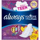 Always Radiant Infinity Teen Regular With Wings 12-14 Count