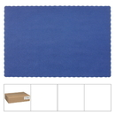 Lapaco Econo Scalloped Solid Colored Navy Blue Placemat 1000 Each - 1 Per Case