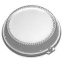 D & W Fine Pack 10.25 Inch High Dome Plate Lid 200 Per Pack - 1 Per Case