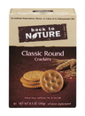 Back To Nature Classic Round Crackers 8.5 Ounce Box - 6 Per Case