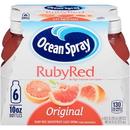 Ocean Spray Ruby Red Grapefruit Juice 10 Ounce Bottles - 6 Per Pack - 4 Packs Per Case