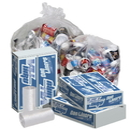 Pitt Plastics P4030XC 33X39 .95 Mil 33 Gallons Clear Star Perf Roll 100(10/10 Count - 33 Gallon Bag) No Print
