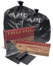 Pitt Plastics TM48XK 40X46 1.8 Mil 40-45 Gallons Black Star Perf Roll 100(10/10 Count - 40-45 Gallon Bags) No Print