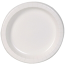 Dixie 8.5 Inch Basic White Paper Plates With Printed Inner Polyfor 125 Per Pack - 4 Per Case