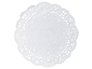 Doily Paper White 5 Round French Lace