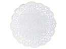 Doily Paper White 6 Round French Lace