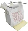 Pitt Plastics. #THW1A 11.5X6.5X22 12.5 Mic T-Shirt Bag-1/6 Barrel White Gusset Flat Pack 1000 No Print