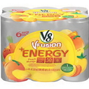 V8 Energy Peach Mango 8 Ounces Per Can - 6 Per Pack - 4 Per Case