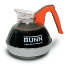 Bunn Orange Handle Easy Pour Glass Decaffeinated Coffee Decanter 24 Per Pack - 1 Per Case