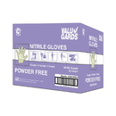 Valugards Nitrile Powder Free Purple Extra Large Glove 100 Per Box - 10 Boxes Per Case