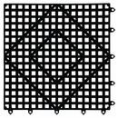 San Jamar 12 Inch X 12 Inch Black Versa-Mat 1 Per Pack