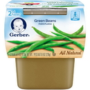 Gerber 00015000076511 Gerber 2Nd Foods Baby Food Green Beans 8(2X4oz)