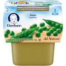 Gerber 00015000076528 Gerber 2Nd Foods Baby Food Peas 8(2X4oz)