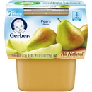 Gerber 00015000076566 Gerber 2Nd Foods Baby Food Pear 8(2X4oz)