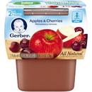 Gerber 00015000076665 Gerber 2Nd Foods Baby Food Apple Cherry 8(2X4oz)