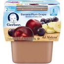 Gerber 00015000076689 Gerber 2Nd Foods Baby Food Banana Plum Grape 8(2X4oz)