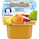 Gerber 2Nd Foods Apricot Mixed Fruit Baby Food 8 Ounces - 8 Per Case