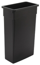 Continental Manufacturing 23 Gallon Black Wall Hugger Waste Container 1 Per Pack