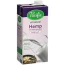 Pacific Foods Vanilla Hemp Milk 32 Fluid Ounce Carton - 12 Per Case
