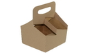 Boxit 7.25 Inch X 7 Inch X 7.25 Inch 4 Cup 32 Ounce Kraft Carrier Box 100 Per Pack - 1 Per Case
