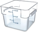 Container Square 12 Quart Clear 1-1 Each