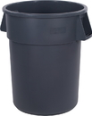 Waste Container Round 55 Gallon Gray 1-1 Each