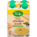 Pacific Foods Organic Free Range Low Sodium Chicken Broth 32 Fluid Ounce Carton - 6 Per Case