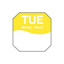 Daymark IT110060B-2-TUE 1X1 Octagon Tuesday Labels 12-1000 Roll