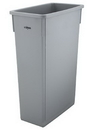 Winco 23 Gallon Slenders Gray Trash Can 1 Per Pack