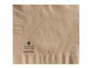 Hoffmaster 180435 Napkin Dinner Kraft 17X17 2 Ply 1/4 Fold 100 % Recycled Earth Wise