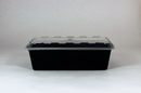 Cubeware CR-937B Rectangular Plastic Containers 38oz Black & Clear Lids