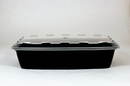 Cubeware 56 Ounce Rectangular Container Black Base With Clear Lid 100 Per Pack - 1 Per Case