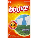 Bounce 95860 Dryer Sheets Outdoor Fresh 15-15 Count