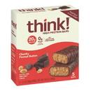 Thinkthin High Protein Chunky Peanut Butter Bars 5 Bars Per Box - 6 Per Case