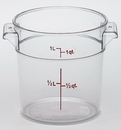 Camwear 1 Quart Round Clear Measuring Storage Container 12 Per Pack - 1 Per Case