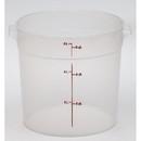 Cambro 6 Quart Round Translucent Measuring Storage Container 12 Per Pack - 1 Per Case