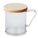 Cambro 96SKRD135 Plastic Shaker 10 oz Salt & Pepper Beige Lid 12-1 Each