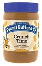 Peanut Butter & Co. All Natural Smooth Crunch Time Peanut Butter 16 Ounce Jar - 6 Per Case
