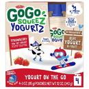 Gogo Squeez Yogurtz Strawberry 12/4Pk