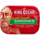 King Oscar 00034800600023 King Oscar Sardines 2-Layer In Extra Virgin Olive Oil 12/3.75 Ounce