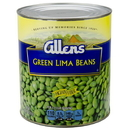 Allen Medium Green Lima Beans 109 Ounces - 6 Per Case