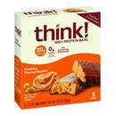 Thinkthin High Protein Creamy Peanut Butter Bars 5 Bars Per Box - 6 Per Case