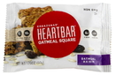 Corazonas Non Gmo Heartbar Oatmeal Raisin Oatmeal Square 1.76 Ounces Per Bar - 6 Per Pack - 12 Per Case