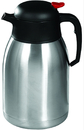 Winco CF-2.0 2 Liter Carafe Stainless Steel Push Button 1-1 Each