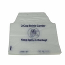 Pak-Sher 12.5 Inch X 11.5 Inch X 2.5 Inch Drink Carrier Bag 1000 Per Pack - 1 Per Case