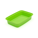 Cubeware CR-815G Cr-815G 16oz Rectangular Green Container With Clear Lid